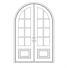 Craftsman Round Top - Double Door