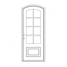 Craftsman Eyebrow Top - Single Door