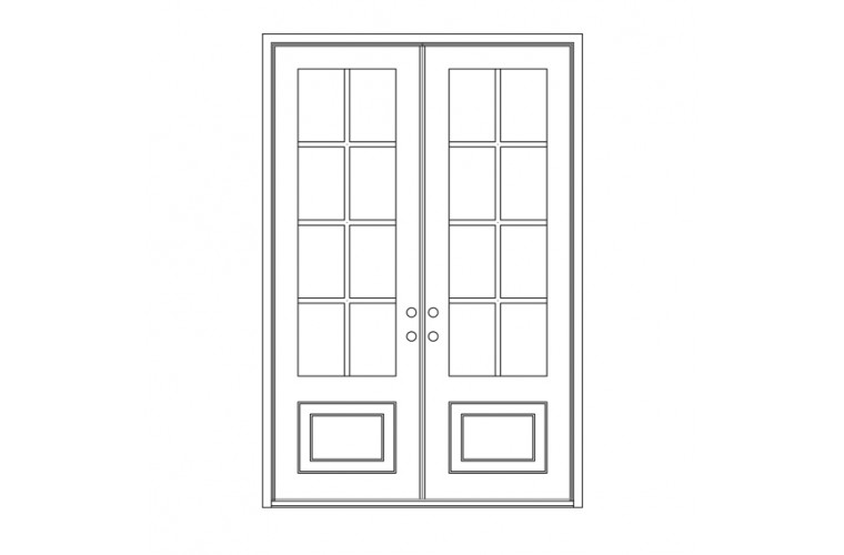 Craftsman Square Top - Double Door
