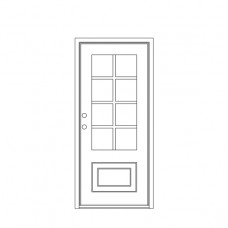 Craftsman Square Top Single Door