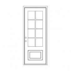 Craftsman Square Top - Single Door