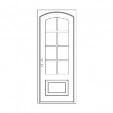 Craftsman Square Eyebrow Top - Single Door
