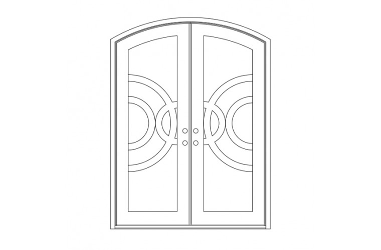Enduranta Eyebrow Top - Double Door