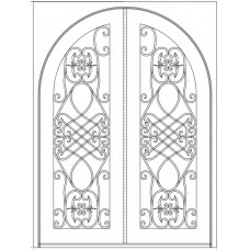 Giano - Round in square frame- 72x96