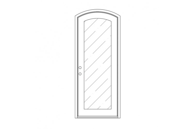 Moderno Eyebrow Top - Single Door