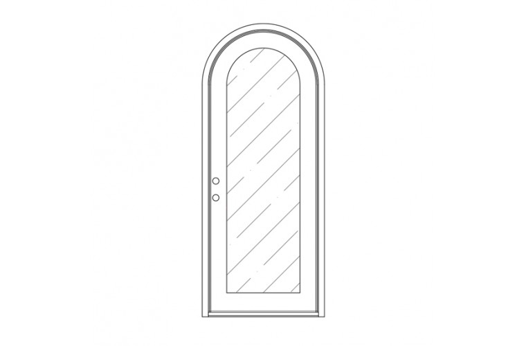 Moderno Round Top - Single Door