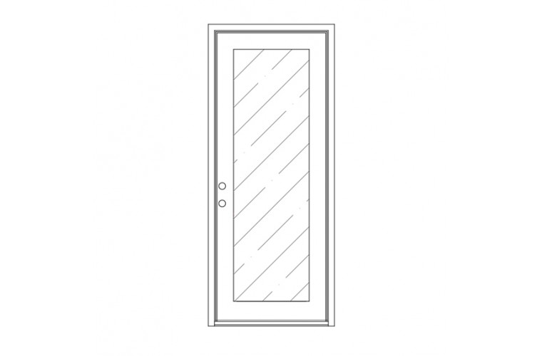 Moderno Square Top - Single Door