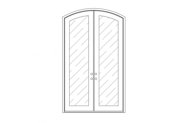 Moderno  Eyebrow Top - Double Door