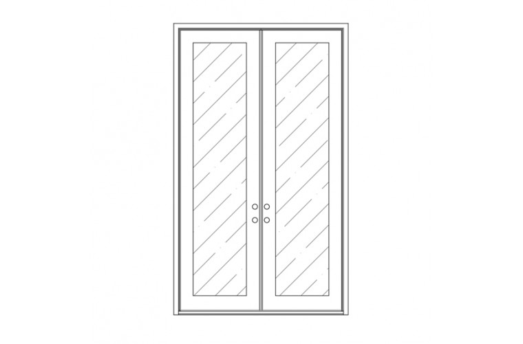 Moderno Square Top - Double Door