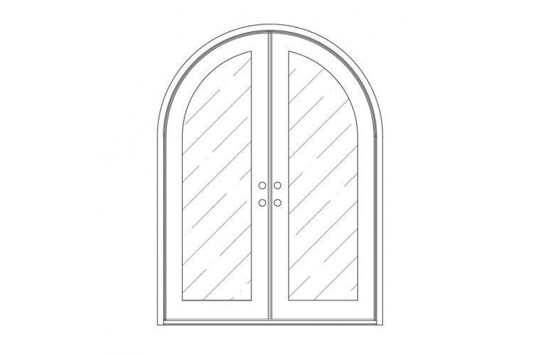 Moderno Round Top - Double Door