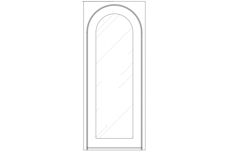 Moderno - Round in square frame - 40x96