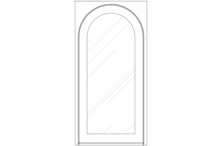 Moderno - Eyebrow in square frame - 48x96
