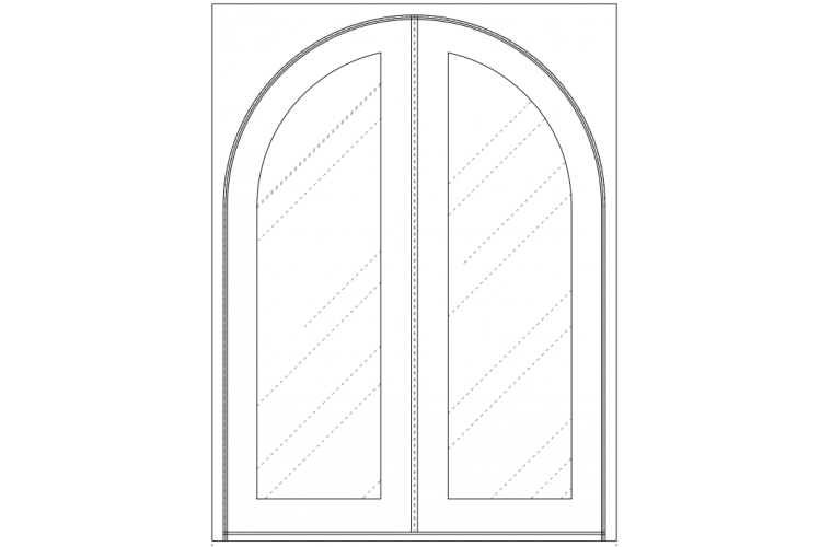 Moderno - Round in square frame - 72x96