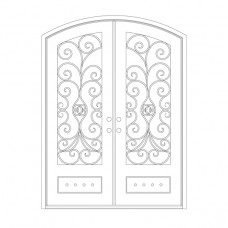 Naples Eyebrow Top - Double Door