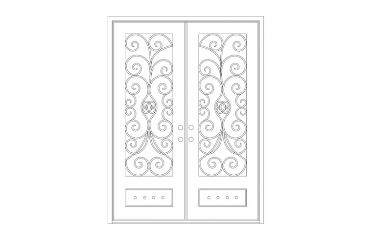 Naples Square Top - Double Door