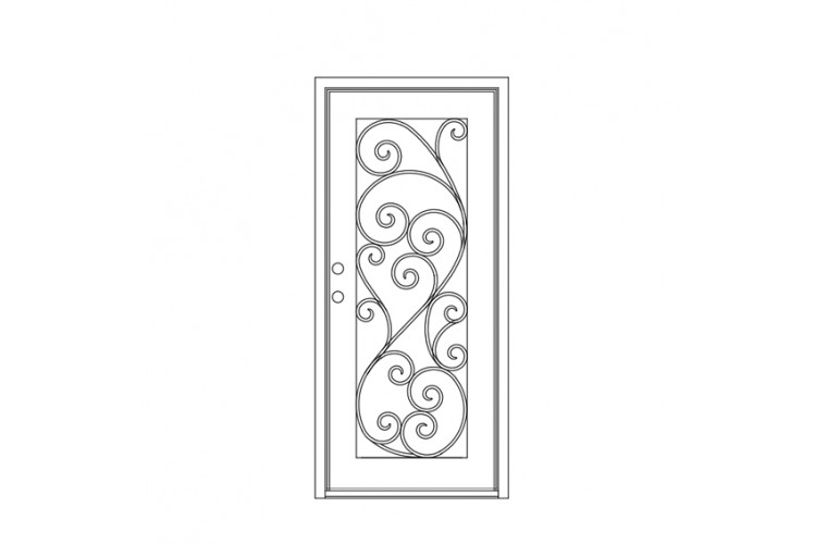 Paris Square Top -       Single Door