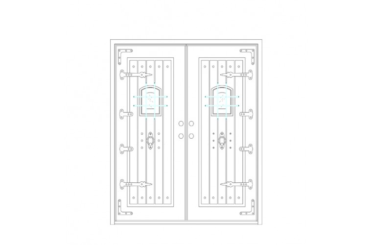 Ricche Square Top - Double Door
