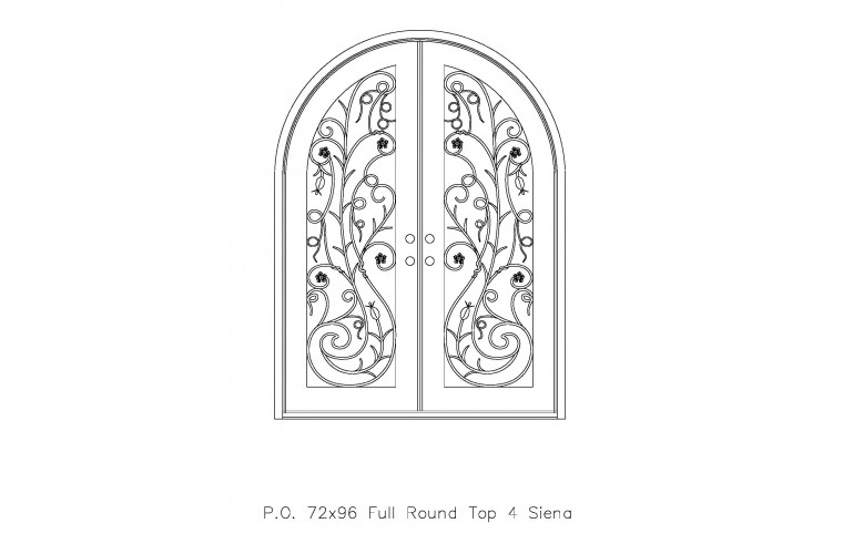 Siena Round Top - Double Door