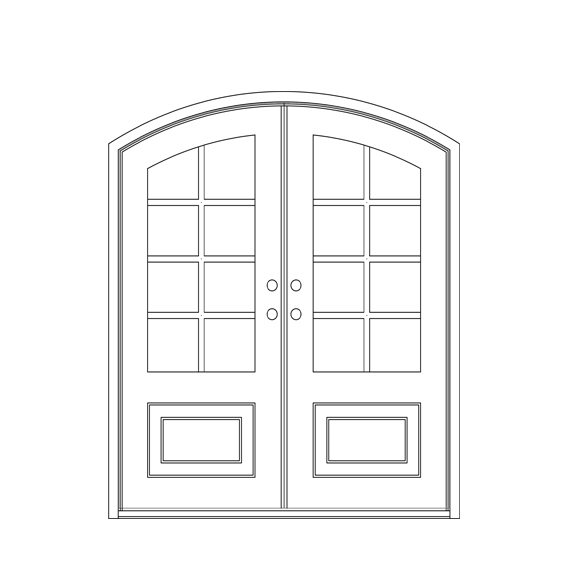 Craftsman Eyebrow Top  - Double Door
