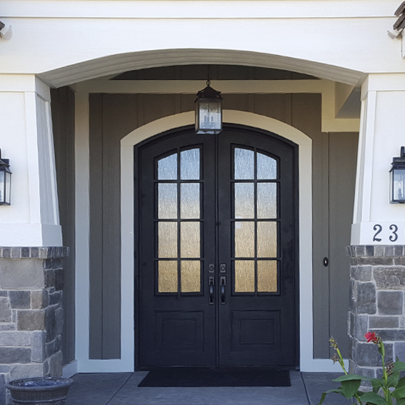 Iron door works for Houses with double front doors